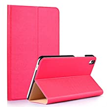 Tsmine Huawei MediaPad T2 8 Pro Origami Slim Case - Folding Premium PU Leather Case Magnetic Cover Stand For Huawei MediaPad T2 8 Pro 8-Inch Tablet, Hot Pink