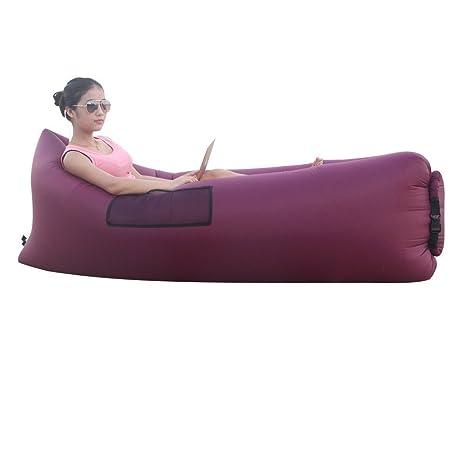 Amazon.com: senqiao tumbona inflable Aire Dormir sofá sofá ...