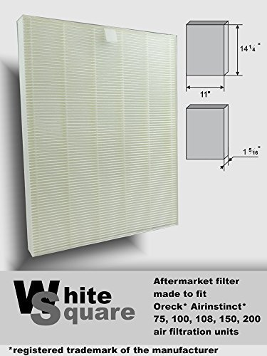 , 100, 100, 150, 200 Air Filter Aftermarket Hepa Filter By White Square ()