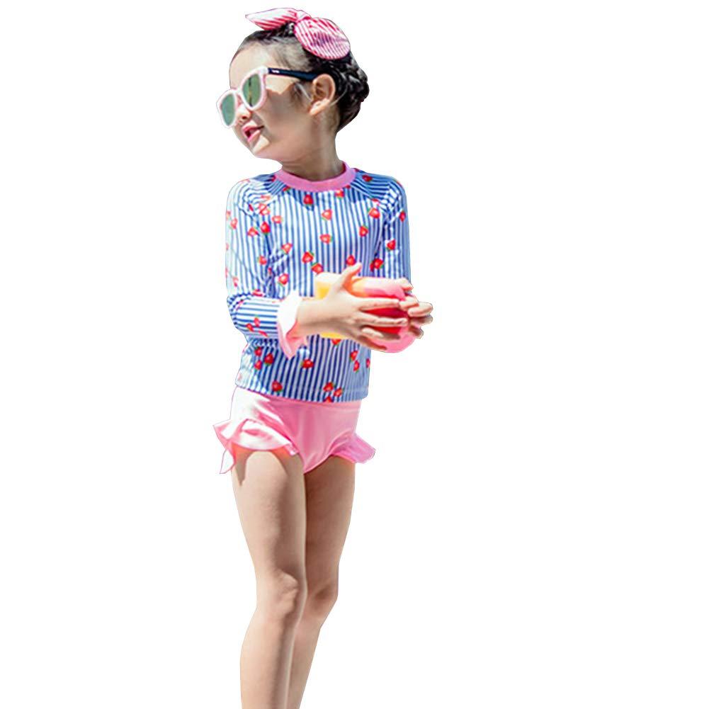 HZYBABY Toddler Baby Girls Swimsuit Rashguard Set Summer Beach Breathable Tankini with UPF 50