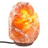 INVITING HOMES 6-7 lbs, 6 to 8 inch Himalayan Natural Salt Lamp On Wooden Base with Bulb and Cord