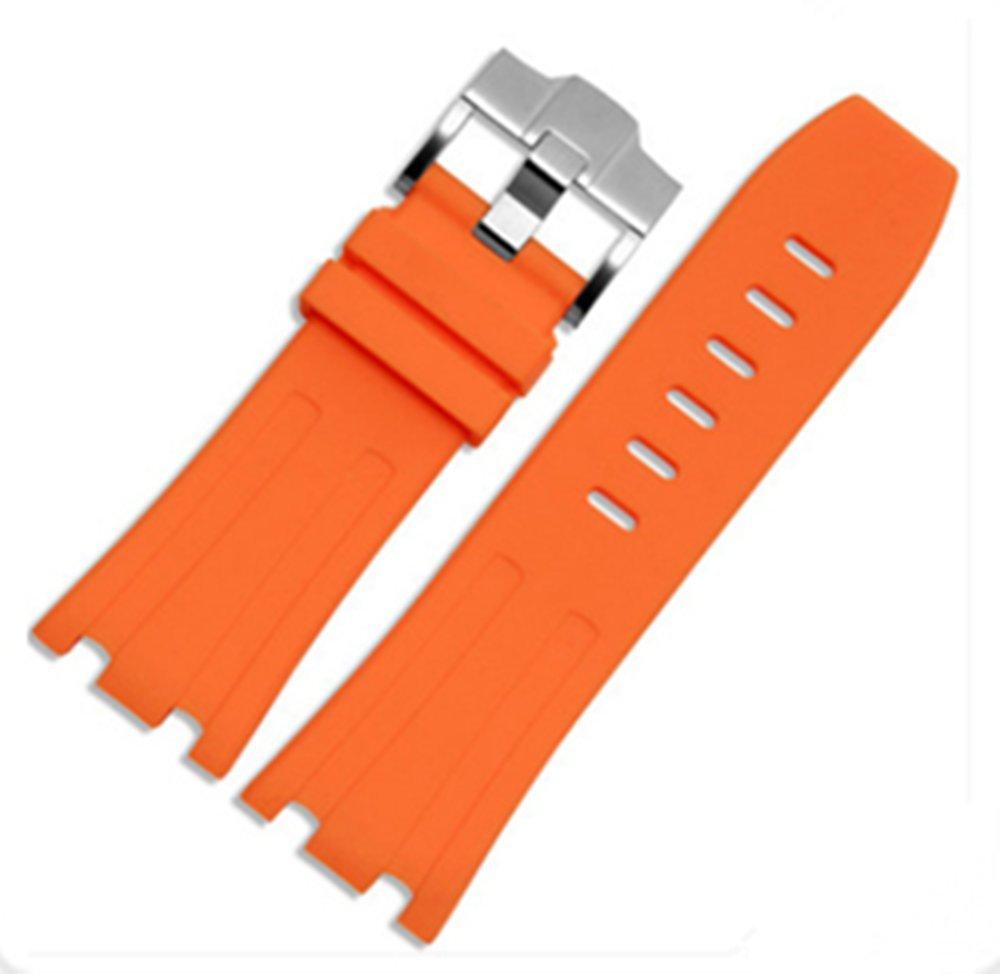 28mm Rubber Watch Strap Band OEM style for AP100 Audemars Piguet Royal Oak offshore Multi Camo Color (Orange)