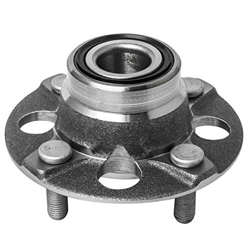 Rear Wheel Hub and Bearing Assembly Left or Right Compatible Acura EL Honda Civic CRX Wagovan AUQDD 513035 [ 5 Lug Non-ABS ] ()