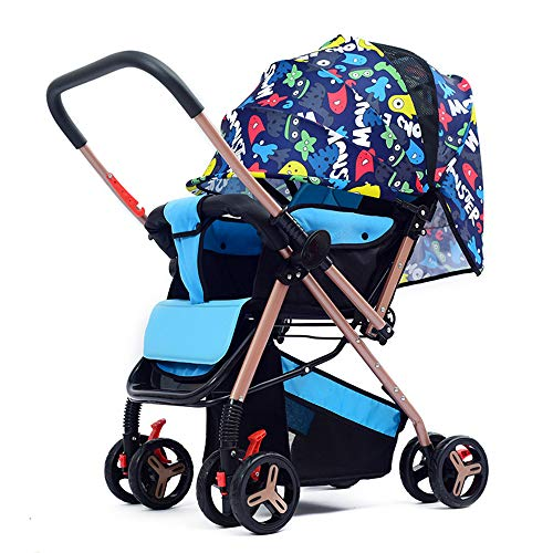 (SCJ Big tire Baby Stroller, Rainproof Baby Buggy, Four Seasons Universal/Safety Frame/Anti-Mosquito/Sun Protection - (0-3 Years Old),#3)