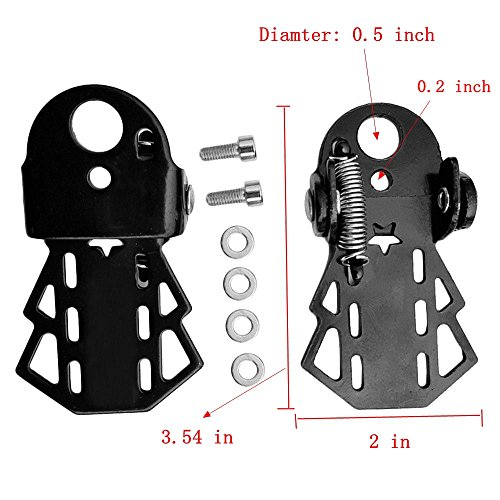 Bicycle Accessories Universal Bike Pedals, Rear Seat Foldable Footrest Pedals for Muntain bike and other Bicycles, Black