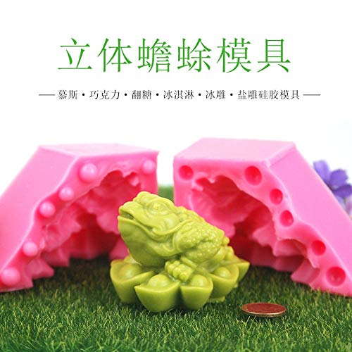Toad Sculpture - Ingot Mold - 3d Gold Toad Mold Salt Sculptures Silicone Mould - Cake Mould Mold Baking Pastry Lucky Toad Gold Mold Clay Ornament Straw Sugar Ingot Gypsum Pacifier Mould Ceramic Feng Shui Lux