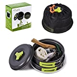 TTLIFE Camping Cookware Mess Kit Backpacking Gear Hiking...