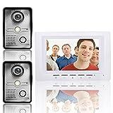 HITSAN ENNIO SY817MKW21 7 inch Video Door Phone Doorbell Intercom Kit 2 Cameras 1 Monitor Night Vision One Piece
