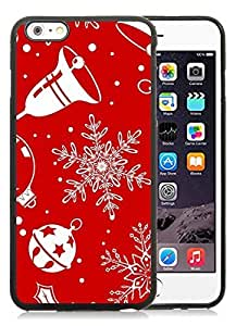 2014 Latest iPhone 6 Plus Case,Christmas snowflake Black iPhone 6 Plus 5.5 TPU Case 2
