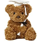 Aurora World Plush Graduation Bear, White Cap, 8.5""