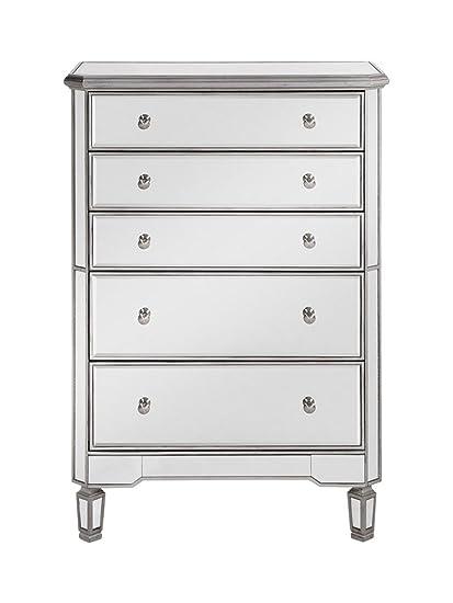 Elegant Decor MF6 1026S 5 Drawer Cabinet, Silver