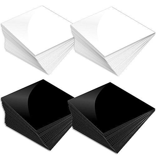 "Prime Vinyl Glossy Premium 5 Year Outdoor Vinyl, 12""X12"", Black & White, 40 Piece Pack"
