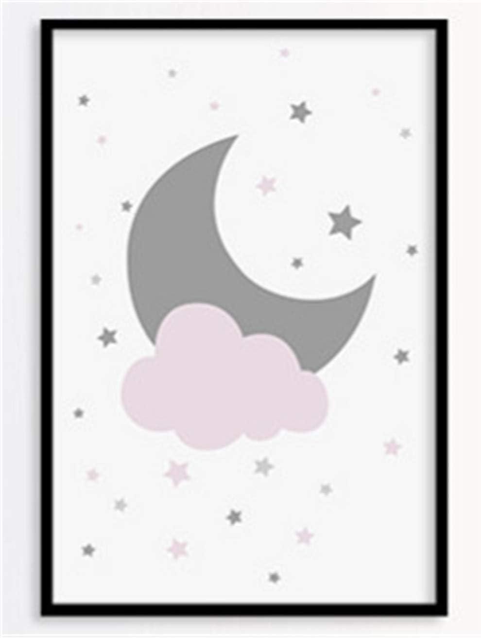 D/écoratifs pour Chambre de B/éb/é ou d?Enfant 21 * 30cm /Étoile//Lune//Nuage D/écoration denfants Lot de 3 affiches pour Chambre denfant//b/éb/é