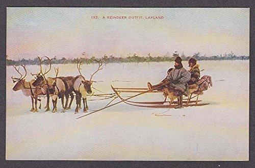 A Reindeer Outfit Lapland Finland postcard (Lapland Reindeer)