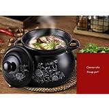 Casserole Soup Pot Ceramic Casserole Health Soup Soup Home Cooker High Temperature Flame Cooker Casserole Mother's Day Gift Father's Day Gift Uns (Size : 7L)