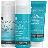 Paula's Choice-CLEAR Extra Strength Acne Travel Kit-2% Salicylic Acid & 5% Benzoyl Peroxide Acne Treatment Skincare Kit with Face Wash, Blemish Treatment, and Exfoliator