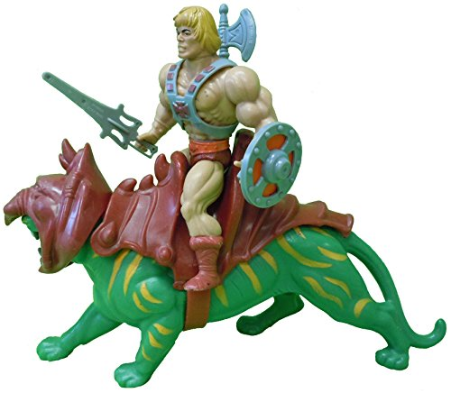 Vintage He-man Masters of the Universe Action Figure & Vehicle He-Man & Battle Cat