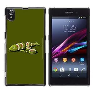 YOYOSHOP [Funny Sushi Fish Illustration] Sony Xperia Z1 L39h Case