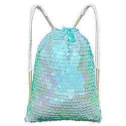 Mermaid Sequin Bag Magic Drawstring Backpack
