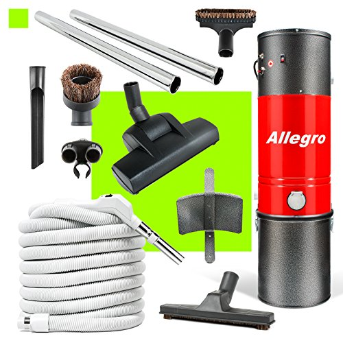 Allegro MU4500 Top Quality Central Vacuum Deluxe Air Package 30 ft. hose (Vac Power Vacuum Tank Unit)