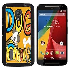 Dragon Case - FOR Motorola G 2ND GEN II - a Silly dog - Caja protectora de pl??stico duro de la cubierta Dise?¡Ào Slim Fit