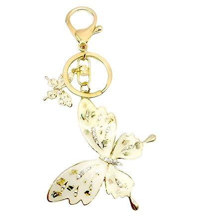 4e614500115 SISdecor Crystal Key Chain Charm Key Ring Blingbling Bag Car Purse Charms  Pendant Phone Charms Hanging Trinket Gift for Women Girls (Butterfly)