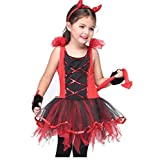 Girl's Halloween Cosplay Costume Suit Children's Dancewear Dancing Dress (Large)