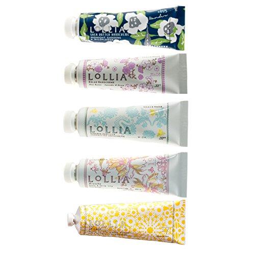 Lollia Petite Size Shea Butter Handcremes – 5 Piece Gift Set