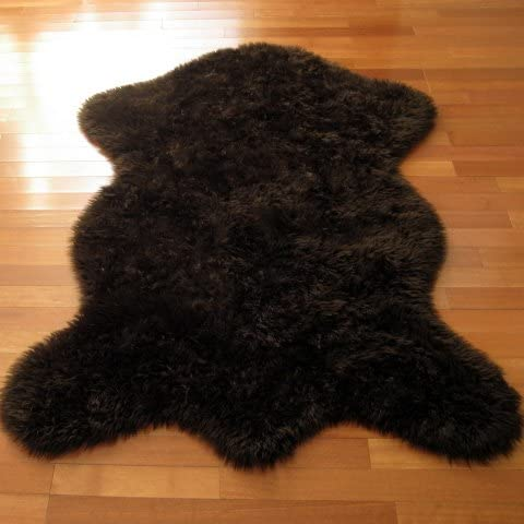 Walk on Me Classic Brown Bear Faux Fur Rug – Animal Shape – New Made in France 2×4, 3×5, or 5×7 5×7 Actual 56 x 79