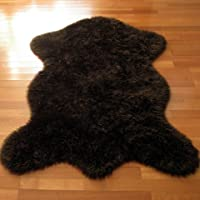 Classic Brown Bear Faux Fur Rug - Animal Shape - NEW Made in France (2x4, 3x5, or 5x7) (3x5 (actual 40 x 55))