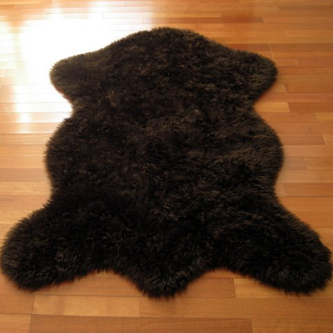 Walk on Me Classic Brown Bear Faux Fur Rug - Animal Shape - NEW Made in France (2x4, 3x5, or 5x7) (3x5 (actual 40
