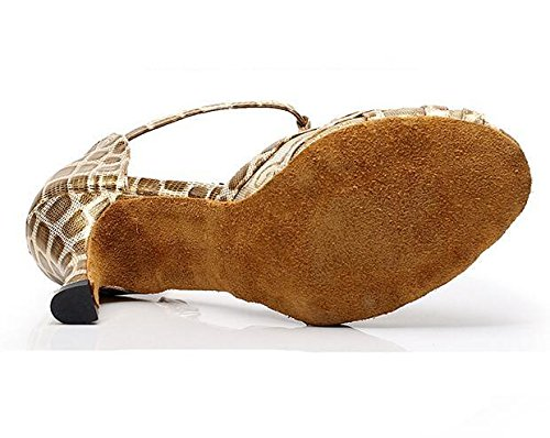 Baile XIE mujer Zapatos de 35 Suela Taogo 41 leopardo a Zapatillas Sandalias de Tamaño latín Estampado blanda wrwqxd8E4