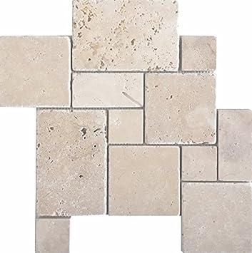 Wohnrausch Wmcrc Travertin Mosaiknetz Crema Im Romischen Verband
