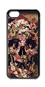 HeartCase Hard Case for Apple iPhone 5C ( Skull Tattoo Partterned )
