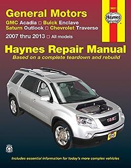 general motors gmc acadia buick enclave saturn outlook chevrolet rh amazon com 2013 buick enclave owners manual pdf 2013 buick enclave owners manual pdf