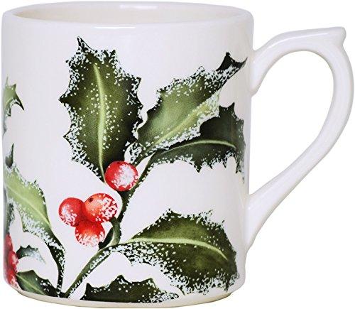 """Gien dinnerware france Holly Christmas Mug 10 oz, 3.75"""""""
