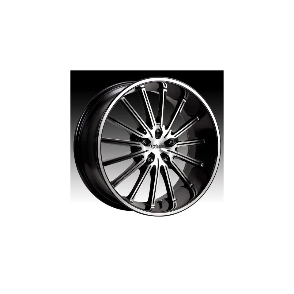 Cruiser Alloy Attack 16x7.5 Machined Black Wheel / Rim 5x100 & 5x4.5 with a 38mm Offset and a 73.00 Hub Bore. Partnumber 910MB 6751838