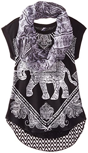 Beautees Big Girls' Elephant Top with Scarf