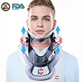 Hangsun Cervical Neck Traction Device and Inflatable Adjustable Neck Brace Collar, Patented FDA Approved Medical Therapy Unit for Neck Pain Relief