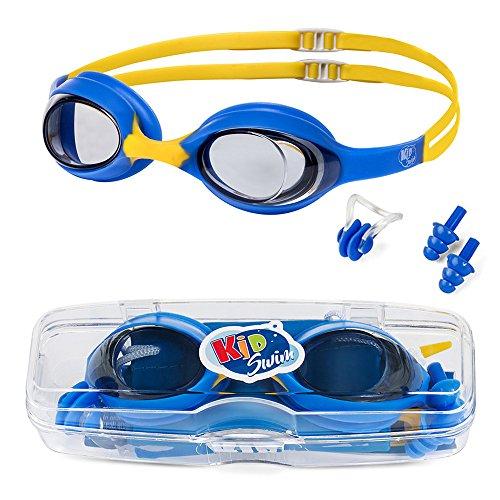 KidSwim Swimming Goggles For Children (Age 4-12) Perfect Fit, No Leak Waterproof...