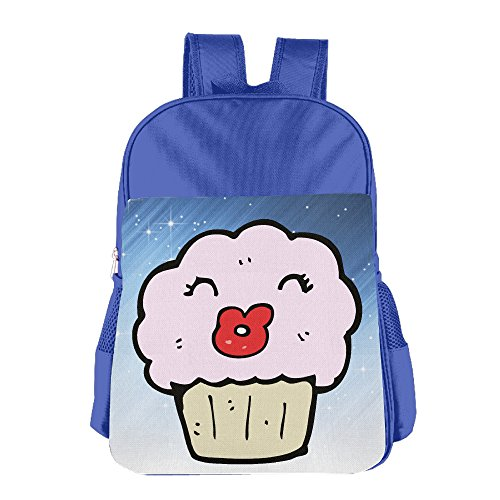 Ongshuquwe Cupcake Cartoon Leisure Children Cute Cartoon Schoolbag RoyalBlue