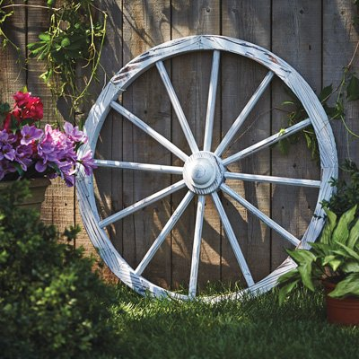 Leigh Country TX 93931 White Wash Wagon Wheel