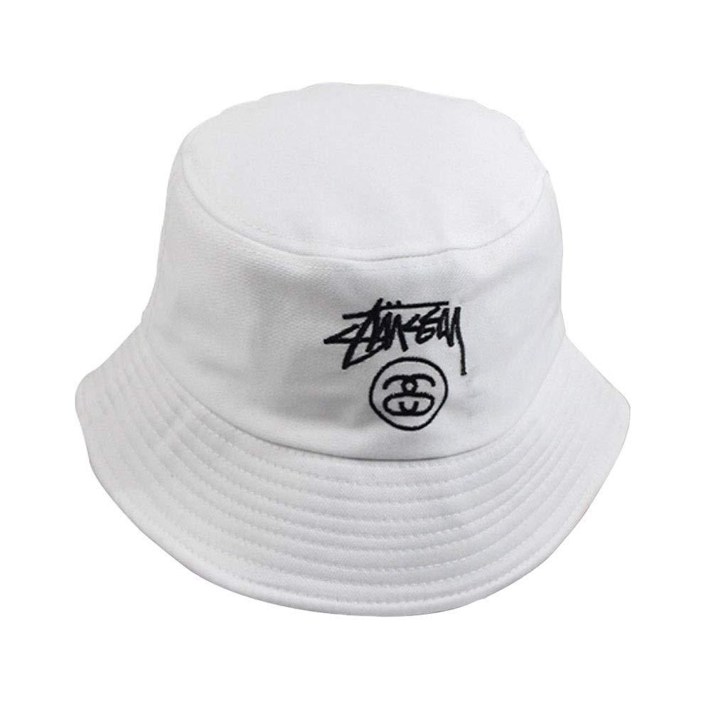 Saisma Cappello da Pescatore Berretto da Donna Design Semplice Versione Coreana di Uomini E Donne Coppia Cappello A Vita Bassa Ricamo Lettera da Sole Cappello Cappellino da Pescatore Pieghevole