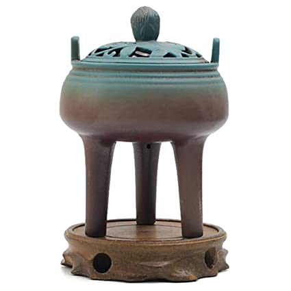 Alta hornilla de Incienso del trípode de Tres pies, Estufa de cerámica de Aromatherapy,
