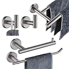 Size: 69 x 12 x 6 cm| Color: Brushed More Information: ·Brand: JQK ·Material: SUS 304 Stainless Steel ·Installation: Wall Mounted·Hand towel bar usable Bar Length: 9 Inch·TP Holder USEABLE Length: 5 InchPackage Included ·2 x Towel Hook ·1 ...