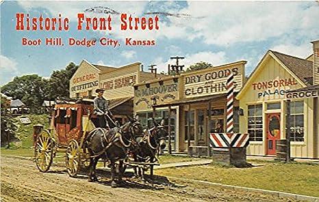 historic front street boot hill dodge city kansas ks usa