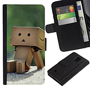 KingStore / Leather Etui en cuir / Samsung Galaxy S5 Mini, SM-G800 / Caja Caja linda
