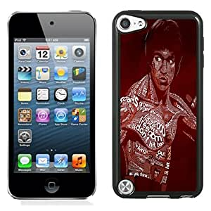 Fashion Custom Designed Cover Case For iPod Touch 5 Phone Case With Bruce Lee Typography_Black Phone Case