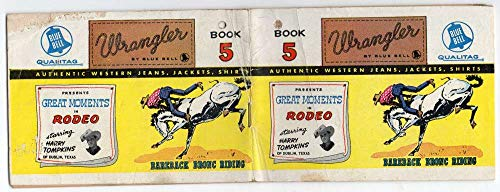 Blue Bell Wrangler Denim Advertising Tompkins Rodeo Mini Comic J2531373