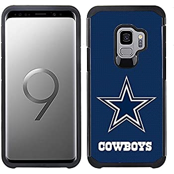 Prime Brands Group Textured Team Color Cell Phone Case for Samsung Galaxy S9 - NFL Licensed Dallas Cowboys